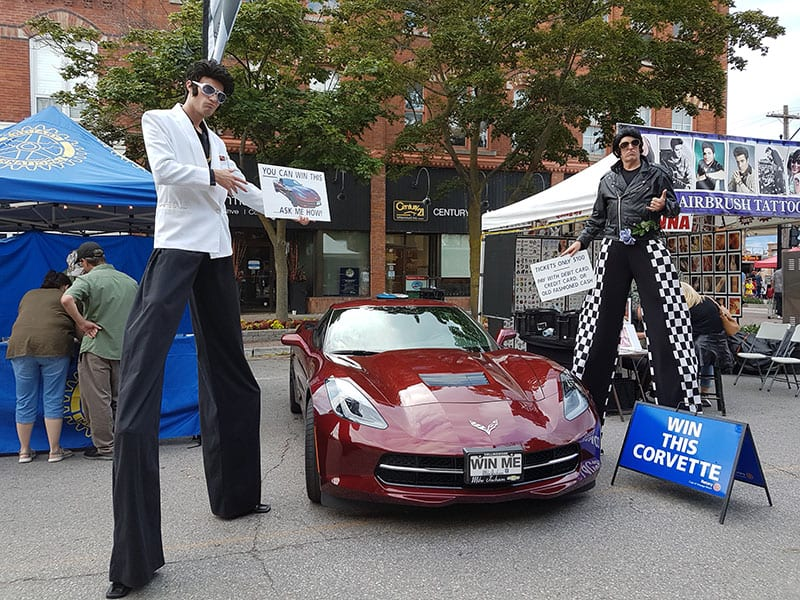 Corvette Lottery ticket sales at the Elvis Festival in Collingwood
