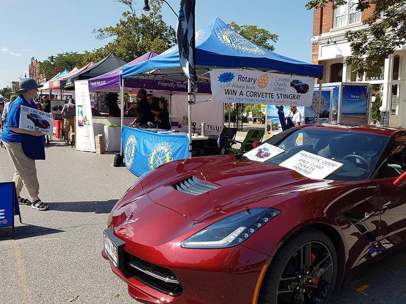 Corvette Lottery for Charity by the Rotary Club of Wasaga Beach