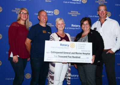 Rotary Corvette Cheque to CGMH-5272-2