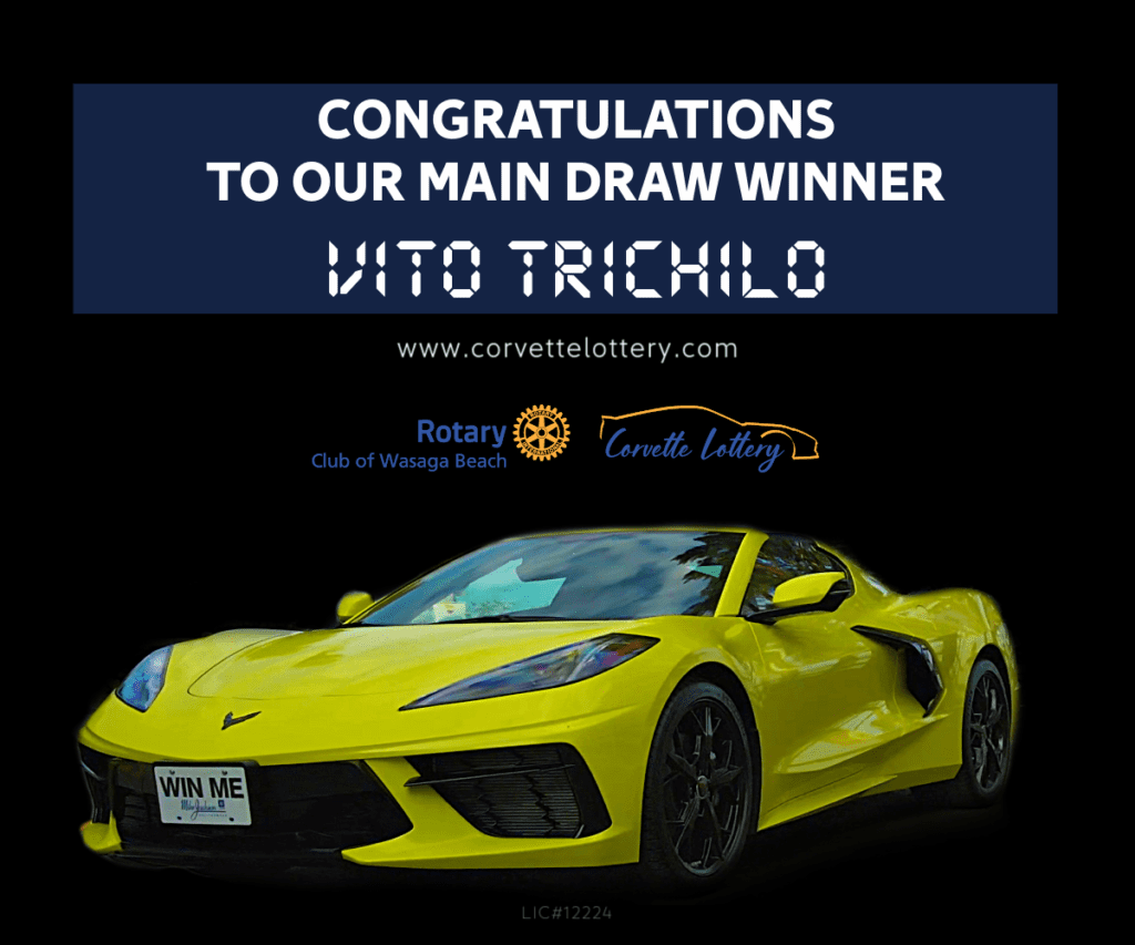 Winner of the 21st Corvette Lottery